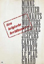 Poster by Willem J.H.B. Sandberg - tien belgische beeldhouwers