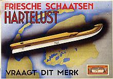 Poster by  Anonymous - Hartelust Friesche schaatsen