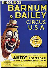 Poster by  Anonymous - Ringlings Barnum & Bailey circus U.S.A. in Ahoy Rotterdam