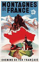 Poster by Max Ponty - Montagnes de France