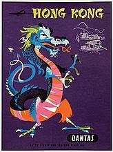 Poster by Harry Rogers - Qantas Hong Kong