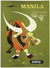 Poster by Harry Rogers - Qantas Manila
