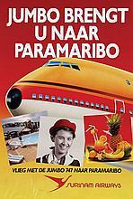 Poster by  Anonymous - Surinam Airways Jumbo 747 Paramaribo