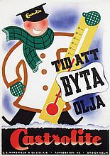 Poster by  Anonymous - Castrolite Tid Byta Olja Stockholm