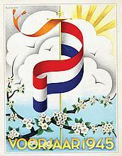 Poster by August W. van Gils - Voorjaar 1945