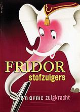 Poster by Frans Mettes - Fridor stofzuigers