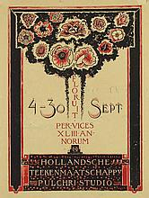 Poster by Richard N. Roland Holst - Floruit 43ste Tentoonstelling Hollandsche Teekenmaatschappy Pulchri Studio
