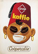 Poster by  Advertising Agency publi - Koffie Coöperatie