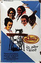 Poster by Otto Böhm - Ossa Nähmaschinenfabrik Adolf Knoch Saalfeld in aller Welt