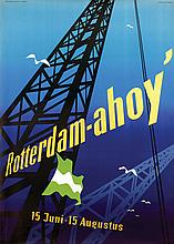 Poster by Otto Treumann - Rotterdam-ahoy'
