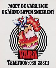 Poster by Swip Stolk - VARA Moet de Vara zich de mond laten snoeren?