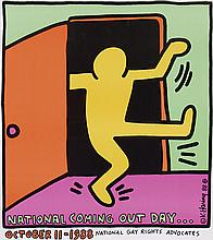 Poster by Keith Haring - National coming out day… National gay rights advocates