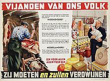 Poster by  Anonymous - Vijanden van ons volk (enemies of our nation)