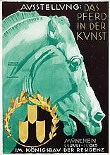Poster by Ludwig Hohlwein - Ausstellung: Das Pferd in der Kunst München