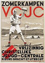 Poster by Otto van Tussenbroek - Zomerkampen VCJC