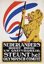 Poster by Arnold van Roessel - Nederlanders Steunt het Olympisch Comité