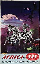 Poster by Otto Nielsen - SAS South Africa (zebras)