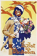 Poster by Ludwig Hohlwein - Herbst in Wiesbaden