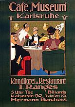 Poster by Otto Kurz - Café Museum Karlsruhe