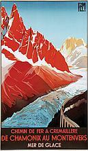 Poster by Roger Soubie - De Chamonix au Montenvers