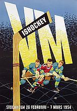 Poster by Bengt Karlsson - VM Ishockey Stockholm