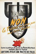 Poster by  Anonymous - Non la France ne sera pas une terre brûlée