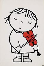Poster by Hendrik Magdalenus (Dick) Bruna - without text (violin)