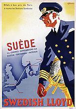 Poster by G.G. Bratt - Swedish Lloyd Suède