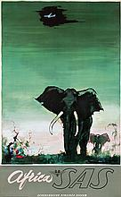 Poster by Otto Nielsen - SAS South Africa (elephant)