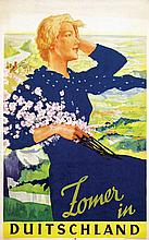 Poster by Ludwig Lutz Ehrenberger - Zomer in Duitschland