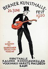 Poster by  Initials A.B. (Arnold Brügger? (1888-1975) - Berner Kunsthalle-Fest