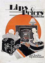 Poster by Johannes B. Romein - Lips & Peters haarden Dordrecht