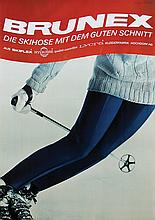 Poster by Edgar Küng - Brunex Die Skihose mit dem guten Schnitt