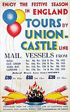 Poster by  Anonymous - Tours by Union Castle Line Capetown London
