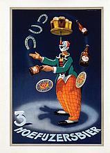 Poster by Bernard Leemker - 3 Hoefijzersbier