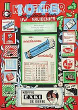Poster by  Anonymous - Kalender Uw Kruidenier