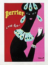Poster by Bernard Villemot - Perrier c'est fou