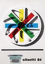 Poster by Giovanni Pintori - olivetti 84