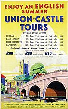 Poster by  Anonymous - Union Castle Tours Enjoy an English Summer