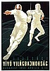 Poster by  Illegible signature - Youth Fencing World Championships