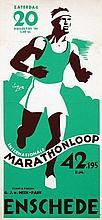 Poster by Jan Lutz - Int. Marathonloop Enschede