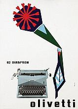Poster by Marcello Nizzoli - Olivetti 82 Diaspron