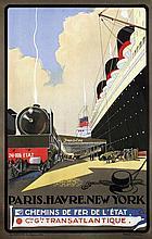 Poster by Albert Sebille - French Line Paris-Havre-New York