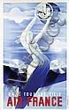 Poster by Roger de Valerio - Air France Dans tous les Ciels
