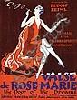 Poster by Roger de Valerio - Valse de Rose-Marie Rudolf Friml