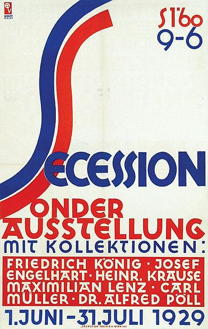 Poster by Robert Haas - Secession Sonder Austellung