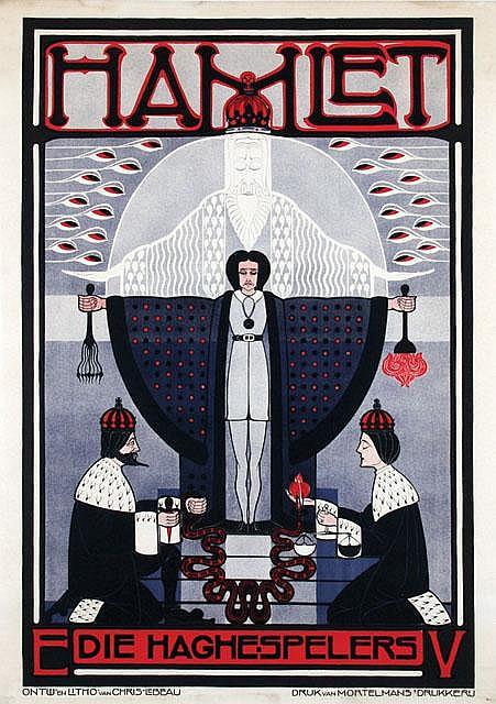 Poster by Chris Lebeau - Hamlet Die Haghe-Spelers