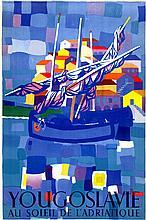 Poster by Edo Murtic - Yougoslavie au soleil de l'adriatique