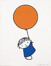Poster by Dick Bruna - without text (orange balloon)