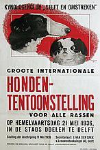 Poster by Dick F. Engelse - Hondententoonstelling te Delft